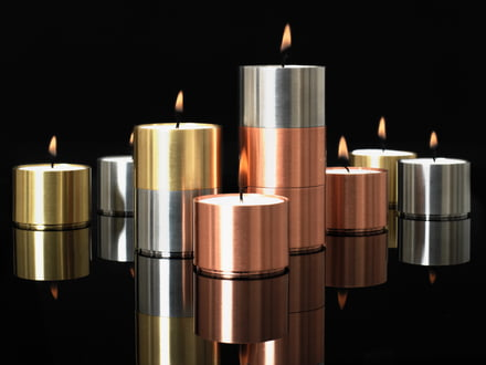 ArchitectMade - Ensemble de photophores pour bougies chauffe-plat Trepas Six