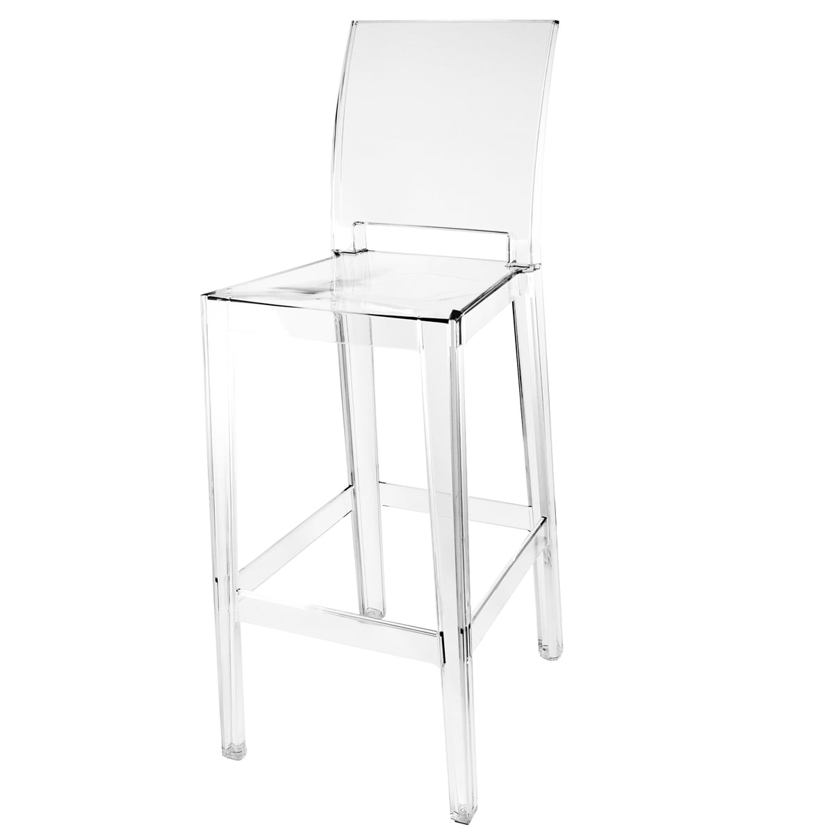 Tabouret De Bar Kartell.Kartell Tabouret De Bar One More Please H 110 Cm Carre Transparent