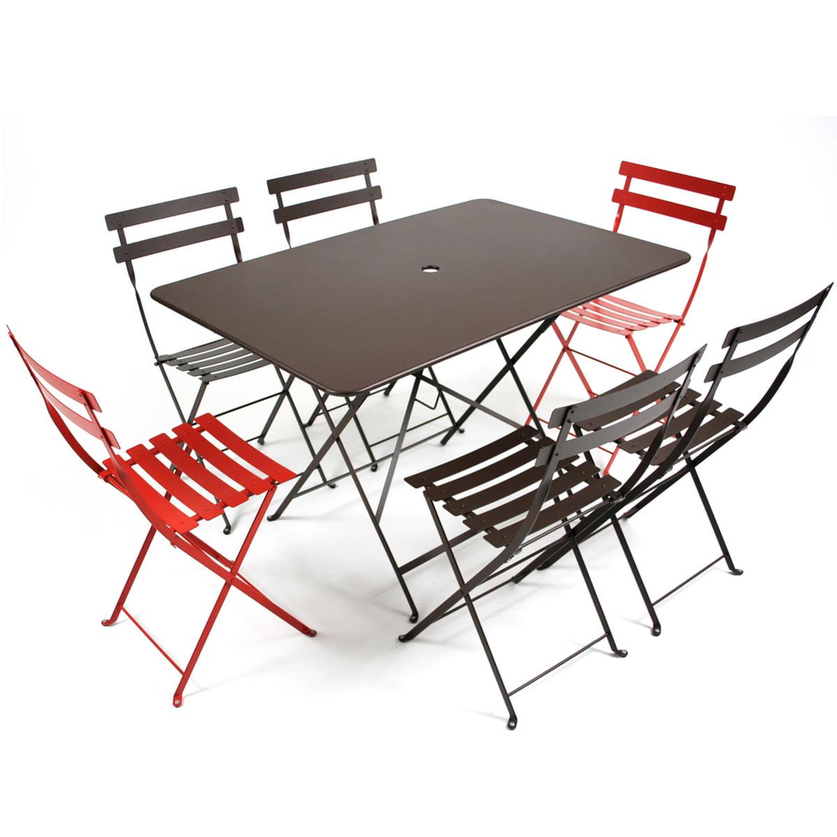 Table Pliante Bistro Avec Chaises Pliantes De Fermob