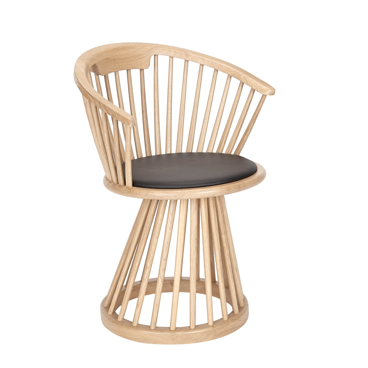 Chaise Fan Dining De Tom Dixon En Chne Naturel