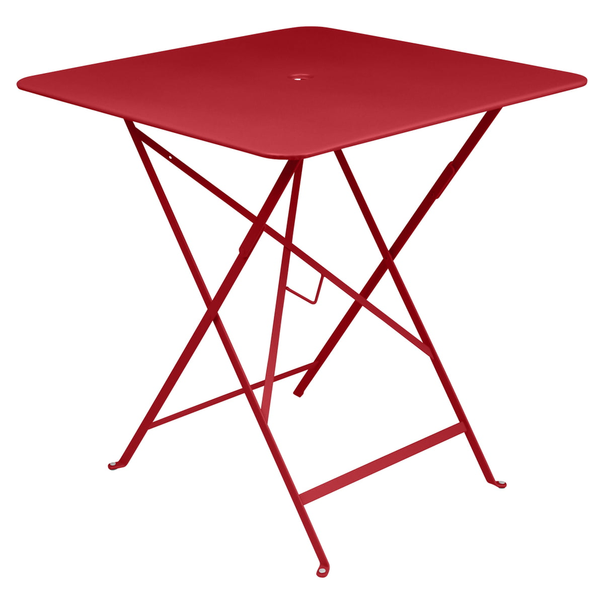Fermob - table pliante Bistro, 71 x 71, rouge pavot