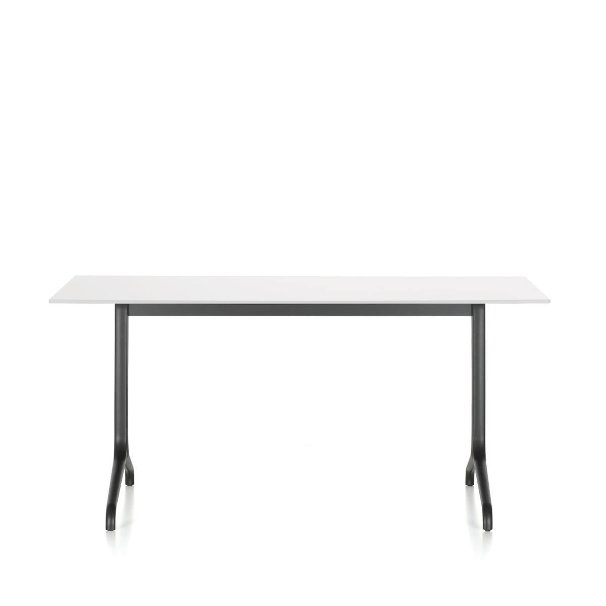 Table A Manger Carree vitra - table à manger d'intérieur belleville 160 x 75 cm, noir intense /  blanc