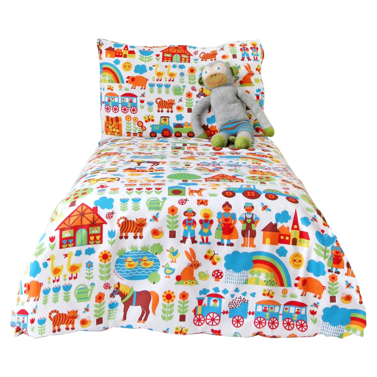 parure de lit pour enfant ferme bygraziela. Black Bedroom Furniture Sets. Home Design Ideas