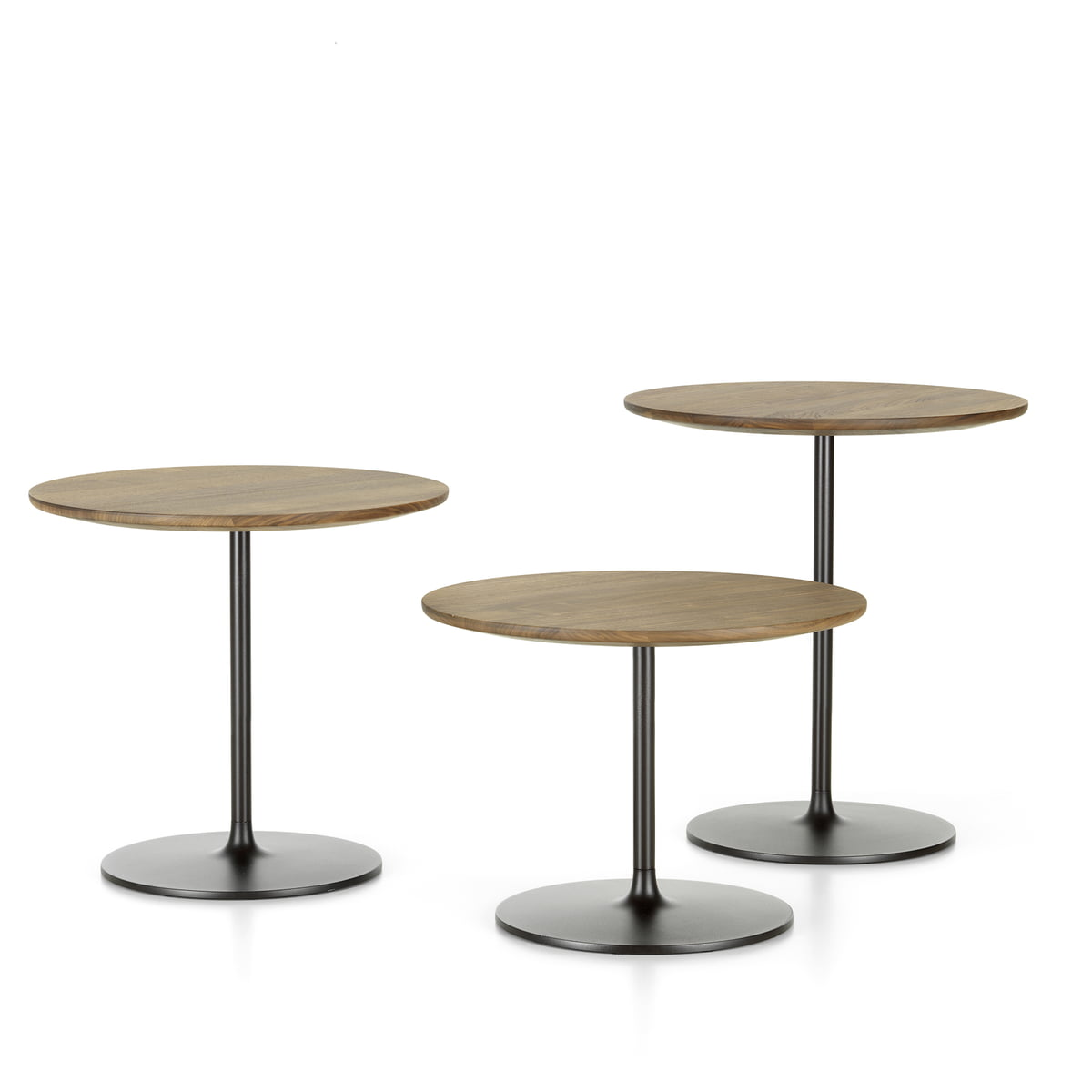 Table D Appoint Cuisine vitra - occasional low table 35, aluminium / chocolate