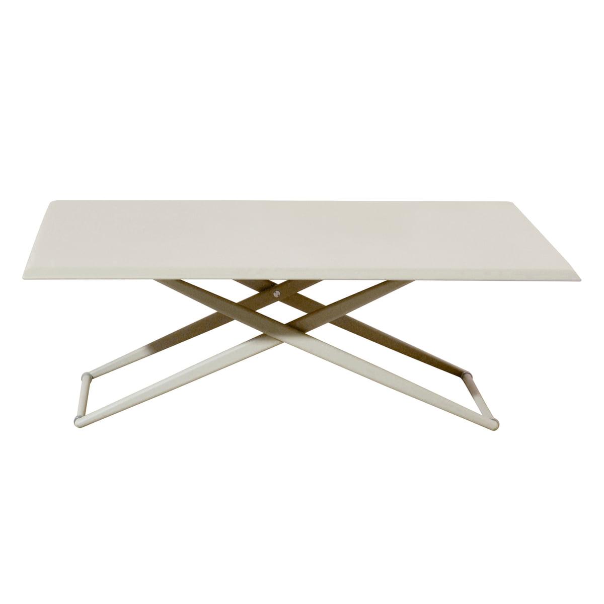 Fast - Table Up & Down Zèbre, hauteur réglable, blanc crème
