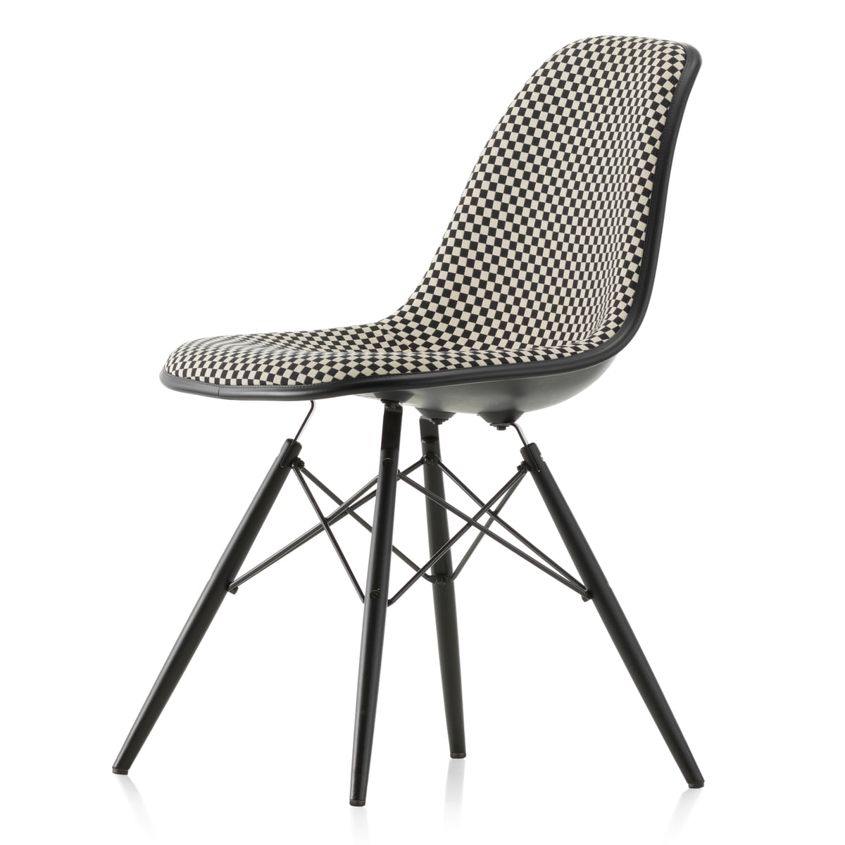 Side Chaise Eames Plastic Vitra Dswrembourrage Complet Chair wvmN0O8n