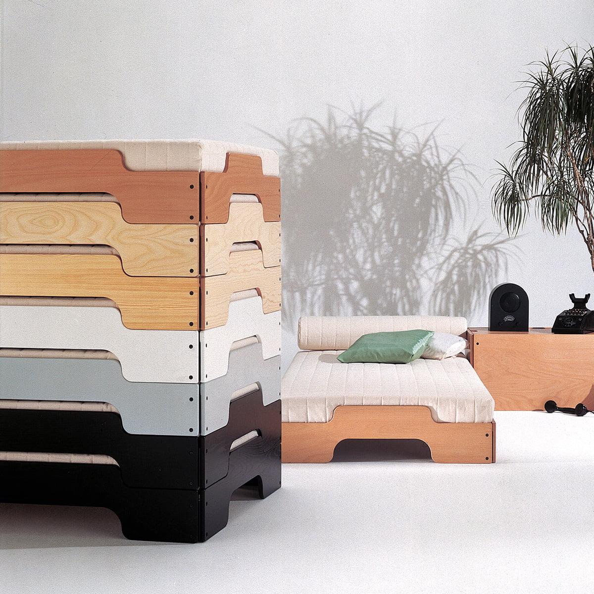 muller mobelwerkstatten divan empilable 90 x 200 cm laque blanc mat pur