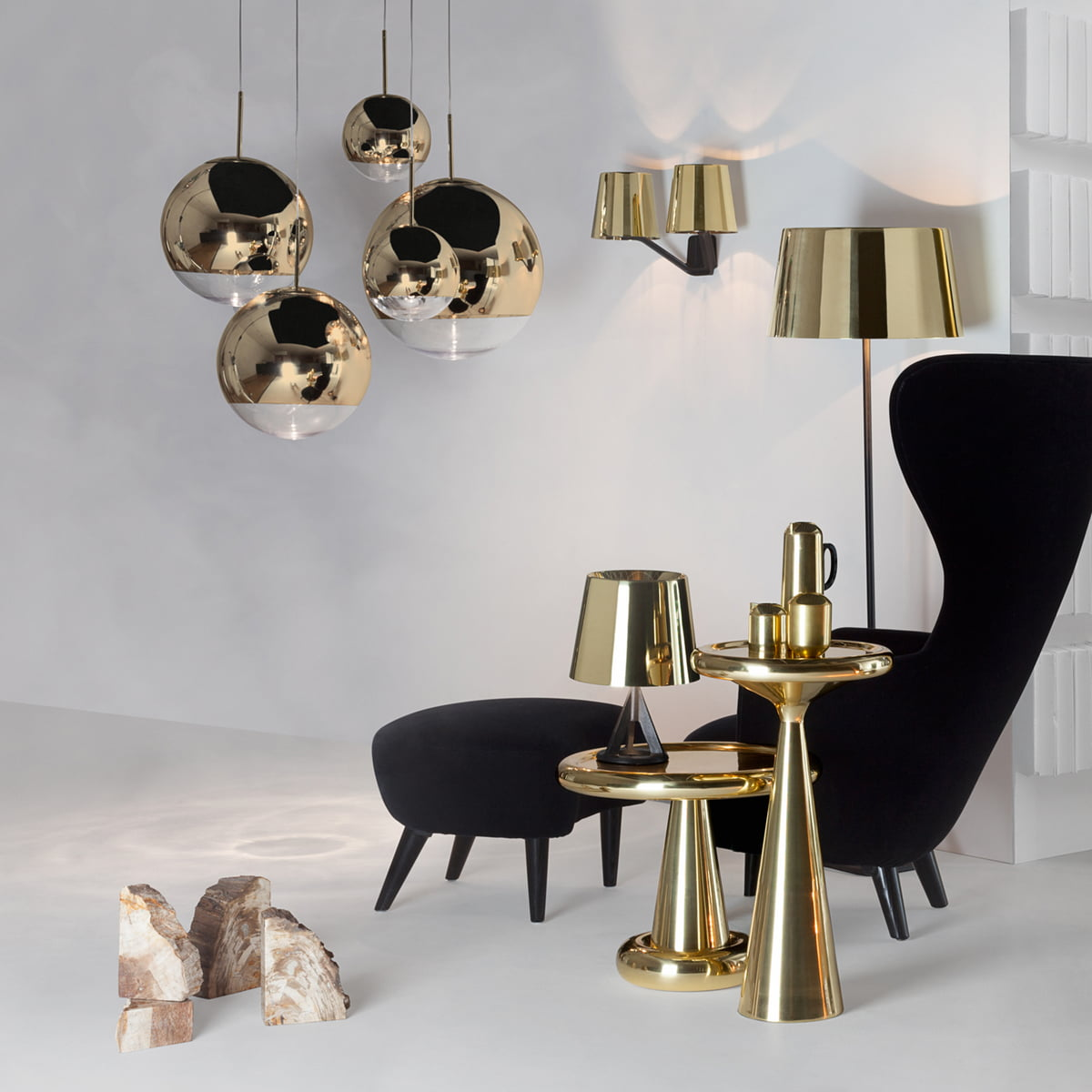 Lumineuse Tom Ball Dixon Gold Mini 25 Mirror Cm Suspension Ø yOmN80vnwP