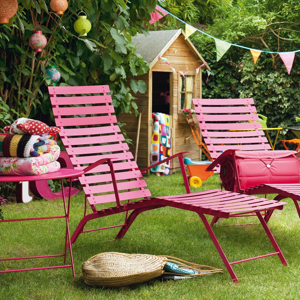 Chaise longue bistro de fermob - Chaise de jardin fermob ...