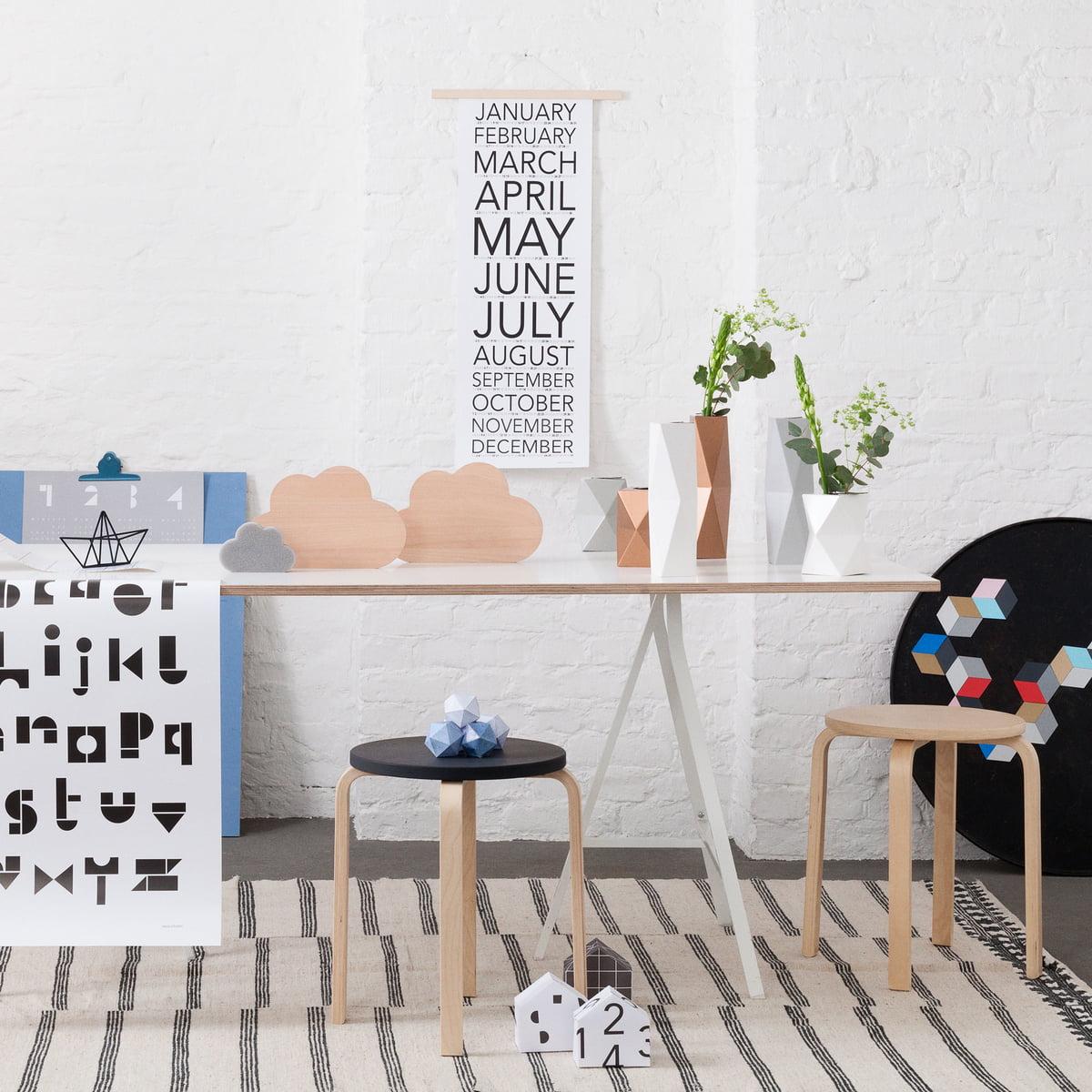 Achetez le calendrier mural 2017 de snug studio for Grand calendrier mural 2017