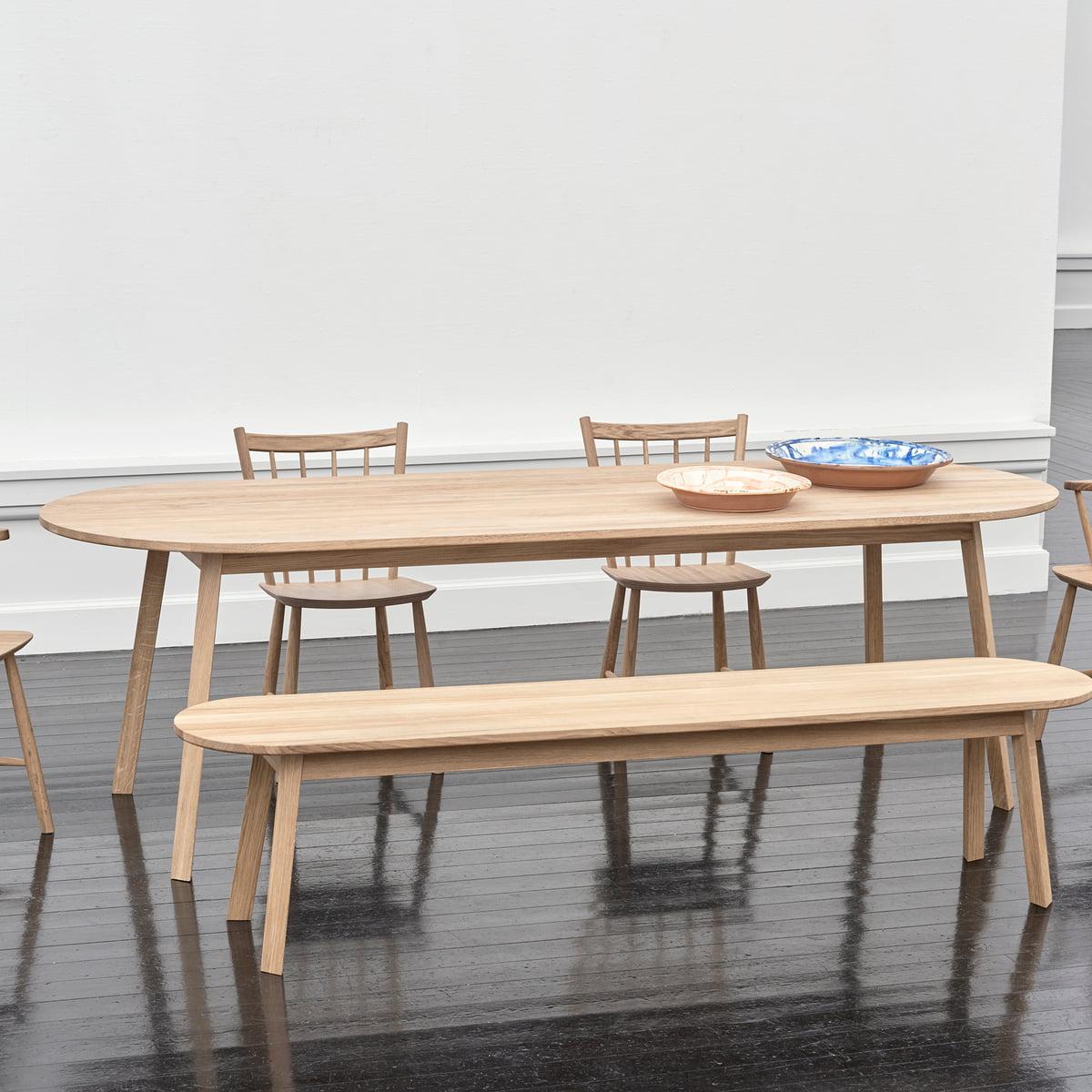 cmchêne Triangle Table de Leg manger Ø à salle huilé Foin 115 PZkuXi