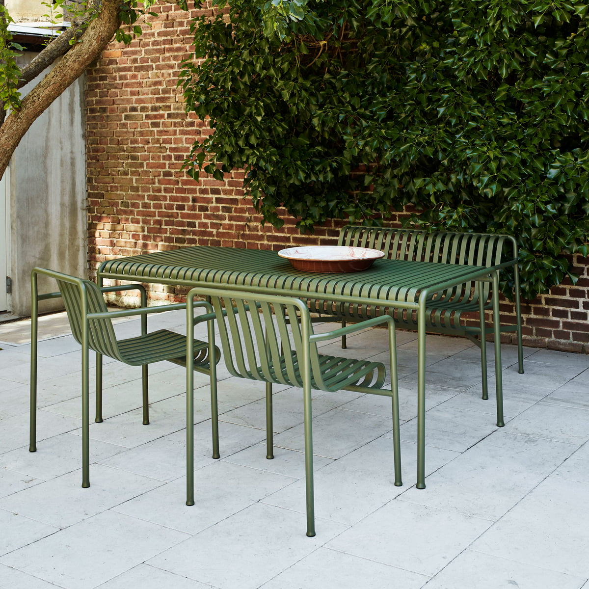 Hay Palissade Table Rectangulaire 170 X 90 Cm Gris Clair