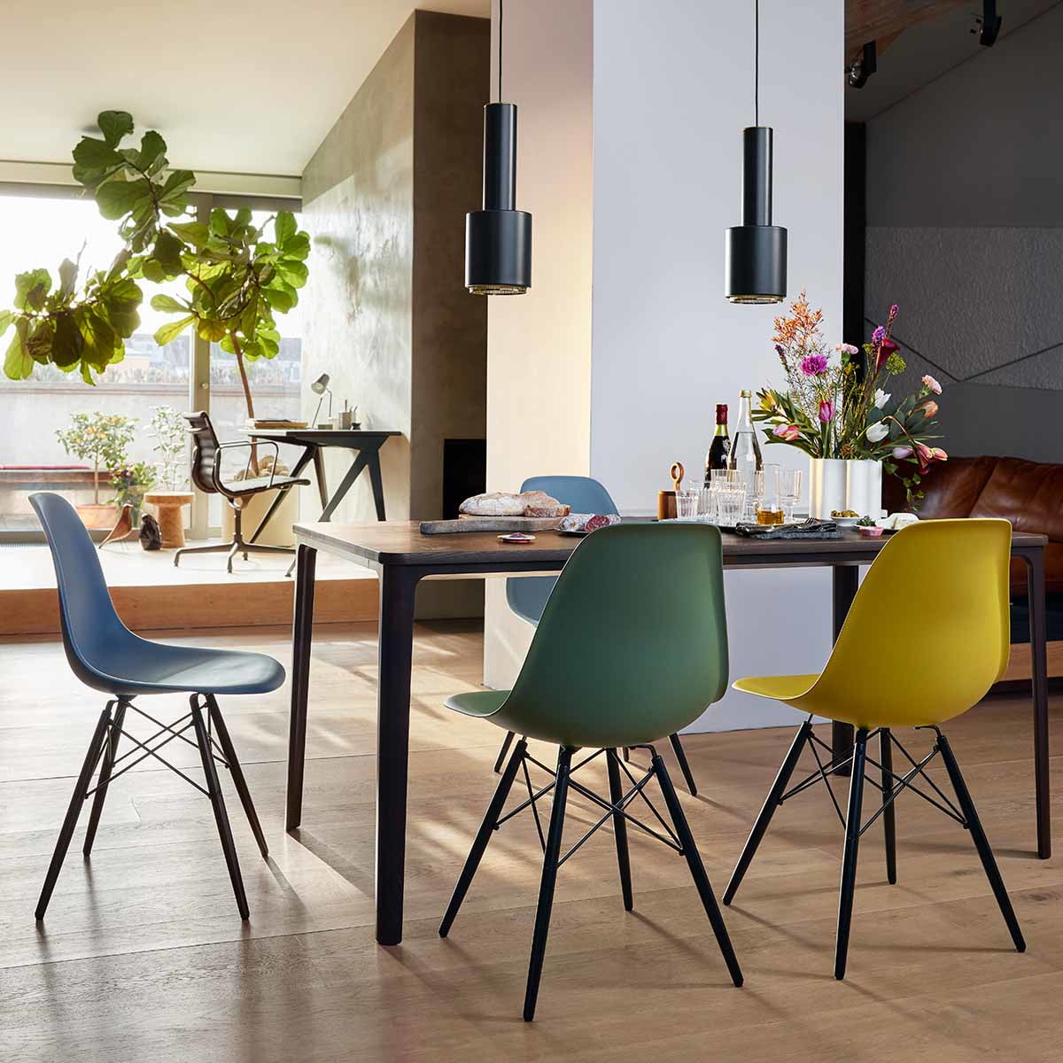 Chaise Vitra Eames Plastic Side Chair Dsw