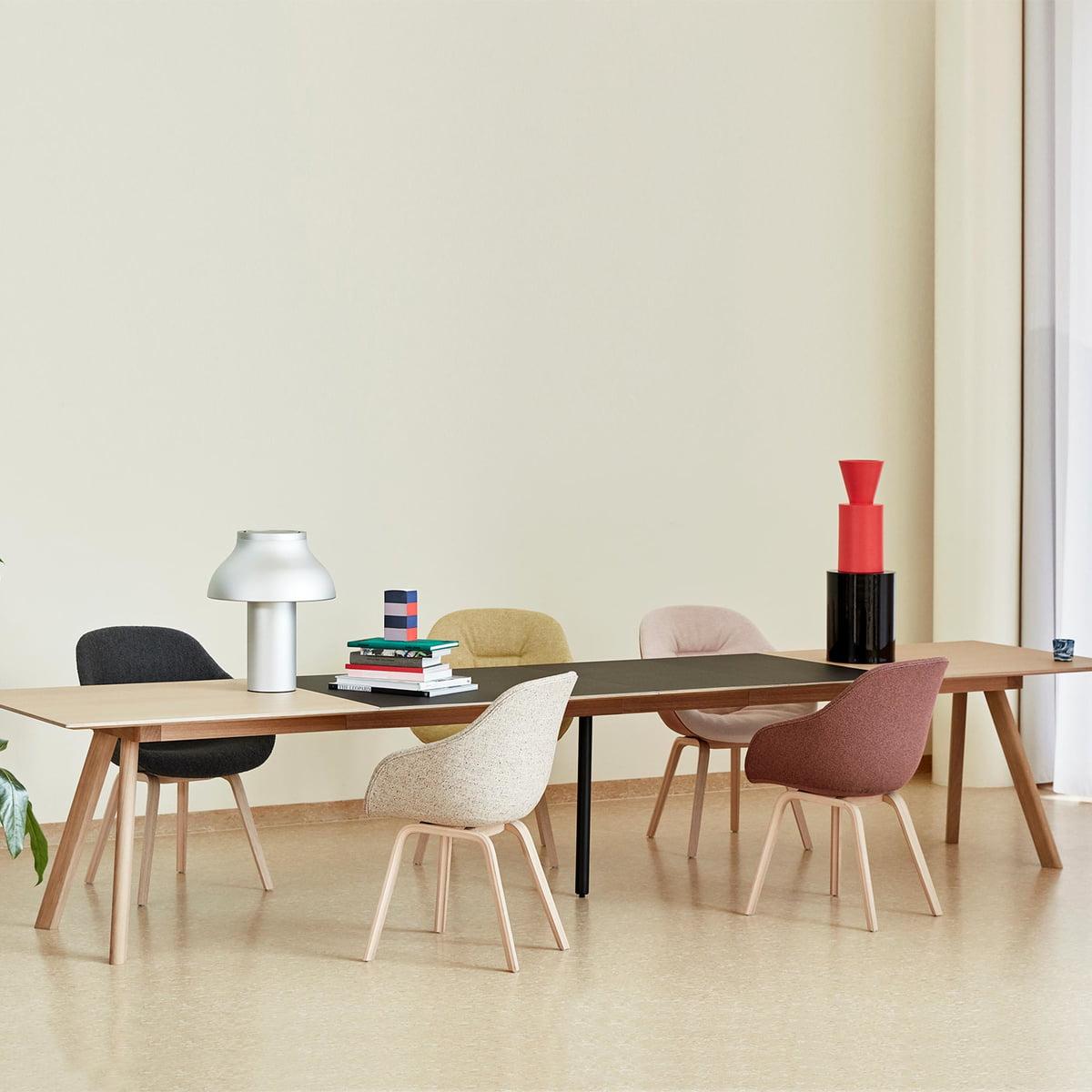 Table Pour Salle À Manger hay - plaque d'insertion pour table à rallonge cph30, 50 x 80 cm, stratifié  blanc