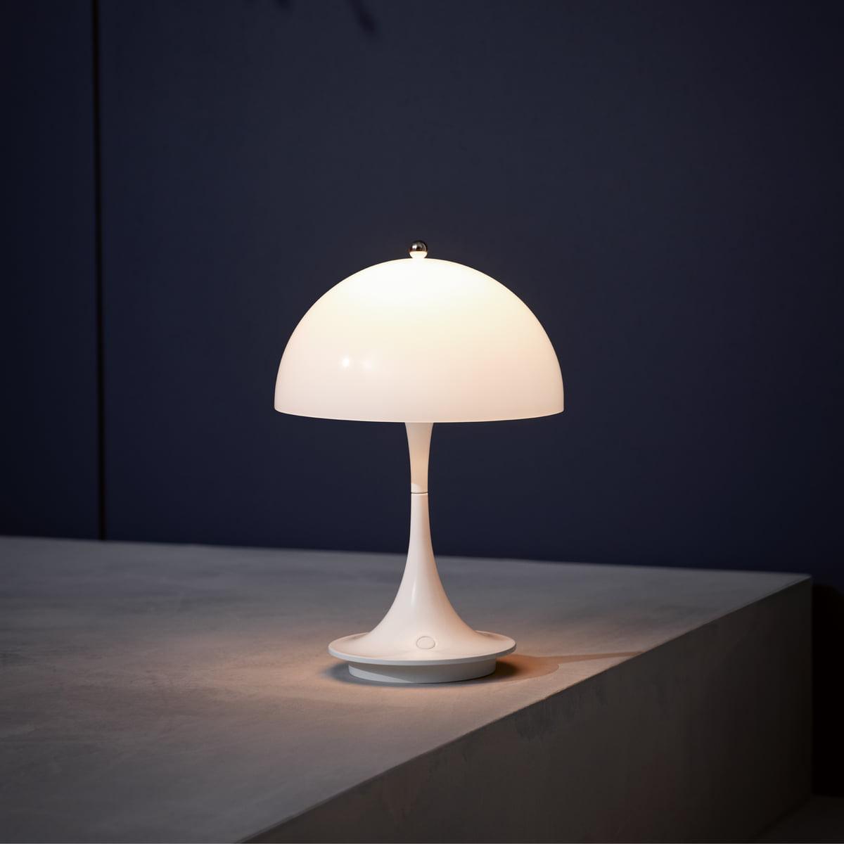 Louis poulsen   Lampe de table led à pile portable panthella   Connox