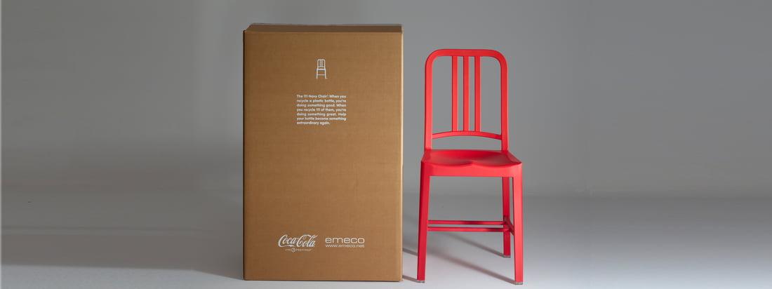 Emeco Chaise 111 Navy Coca-Cola