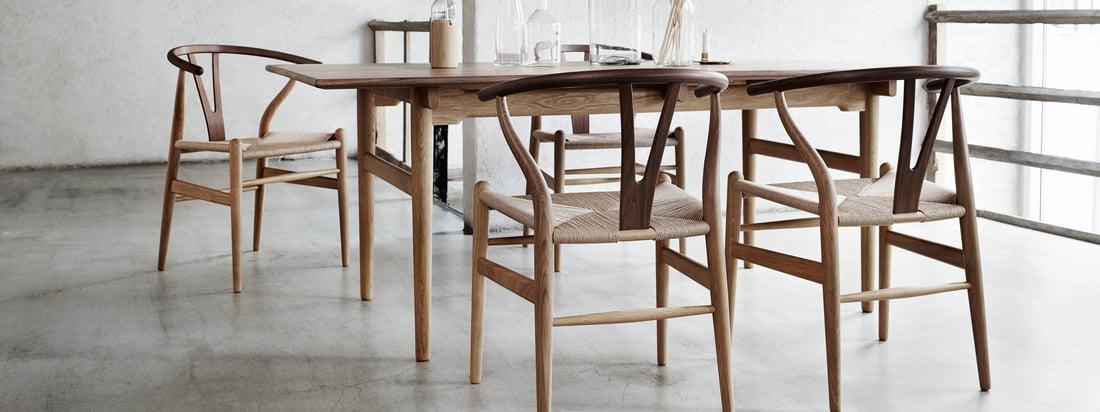 Carl Hansen - CH24 Wishbone Chair - chêne huilé et fumé / tressé naturel
