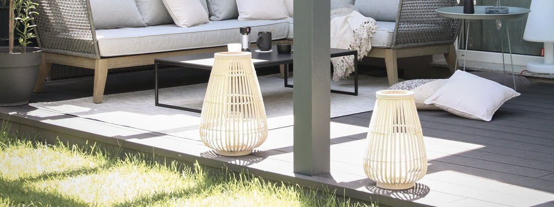 Ambiance extérieure - Lanternes de la collection Connox