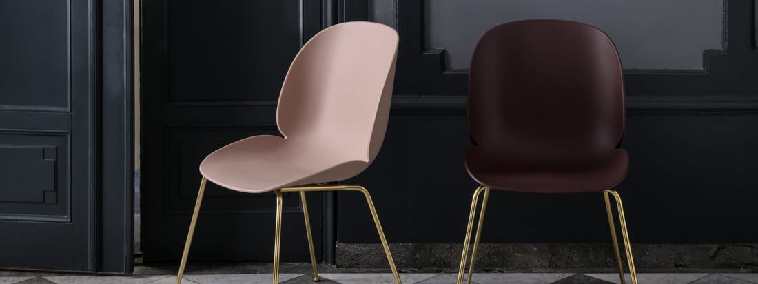 La Beetle Dining Chair de Gubi avec base conique est une solution idéale pour tout espace de vie et a également fière allure dans les lieux publics tels que les hôtels ou les restaurants.