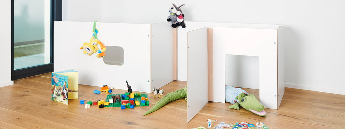 La collection Kids de Tojo convainc par ses meubles multifonctionnels et bien pensés. Le design simple et le mélange de blanc et de bois naturel s'intègrent harmonieusement dans toute chambre d'enfant.