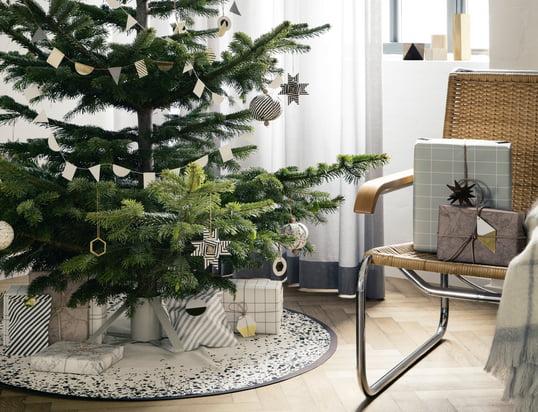 ferm Living - Noël2014, ambiance avec sapin et cadeaux - photo d'ambiance