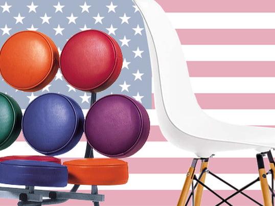 Le Mashmallow Sofa, créé par George Nelson, peut être considéré comme l'une des première créations Pop-Art. Avec la Eames Plastic Side Chair DSW de Charles & Ray Eames, ils sont des classiques absolus en matière de pièces design américaines.