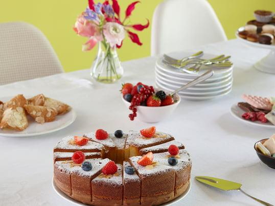 Avec le moule à gâteau SL14 par design3000 pour Konstantin Slawinski vous cuisez délicieuses tartes XL et gâteaux, qui semblent inhabituels et sont déjà divisés en portions de tailles différentes.