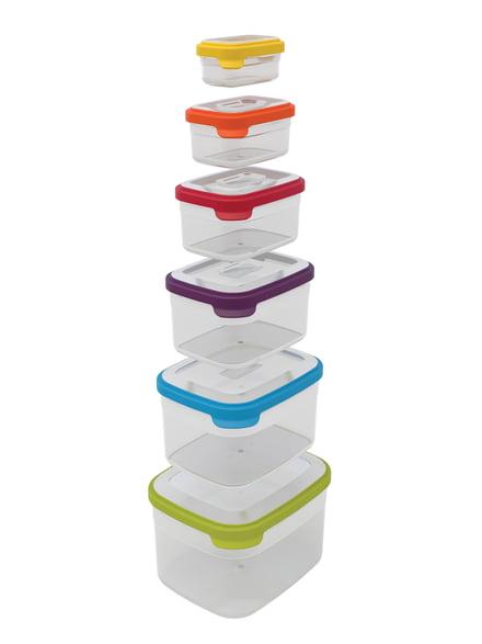 La boîte de stockage Nest Storage par Joseph Joseph avec couvercle en plastique