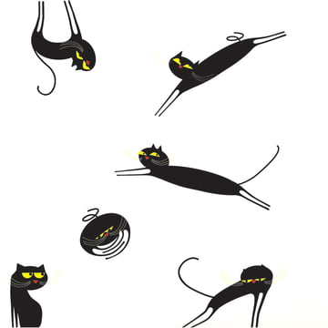 Domestic - Sticker mural Catenkit, noir