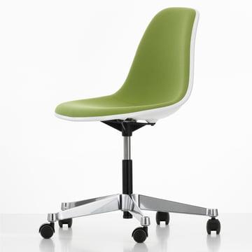 Eames Plastic Side Chair PSCC, vert
