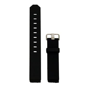 Jacob Jensen - Bracelet de rechange en caoutchouc, noir/acier inoxydable 17mm