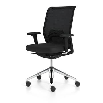 Vitra - ID Mesh, nero / Aluminium poli