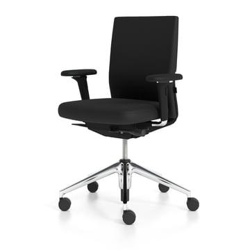 Vitra - ID Soft, nero / Aluminium poli