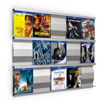 Système d'étagères Sigmarail SR5 en aluminium pour Blu-ray