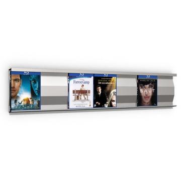 Système d'étagères Sigmarail SR7 en aluminium pour Blu-ray