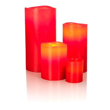 Bougie en cire véritable à LED de Klein & More en rouge