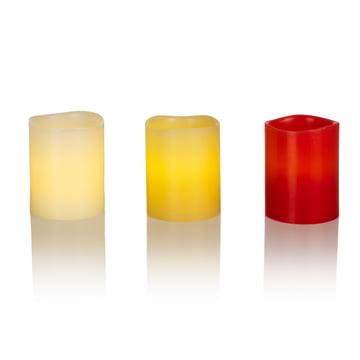 Bougie en cire véritable à LED de Klein & More