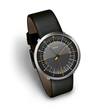 Botta Design - Montre Duo24, noir/bracelet en cuir