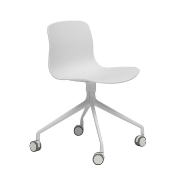 Hay - About A Chair AAC 14, aluminium poli blanc / blanc
