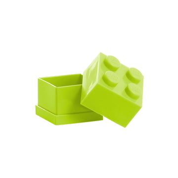 Lego - Mini-Box 4, citron vert - ouvert