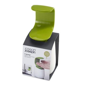 Joseph Joseph - Distributeur de savon C-pump, blanc/vert - Emballage