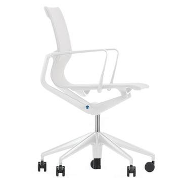Vitra - Chaise de bureau pivotante, argent / soft grey