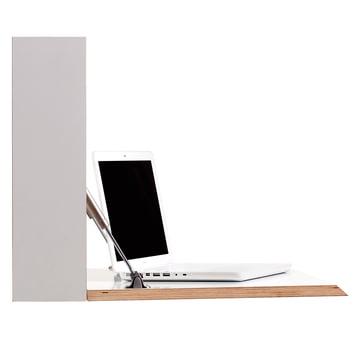 Müller Möbelwerkstätten - Flatbox, blanc - ouvert, laptop, côté