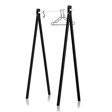 Nomess - Portant Dress-Up, noir, blanc, 90cm