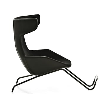 Moroso - take a line for a walk - Cuir, noir