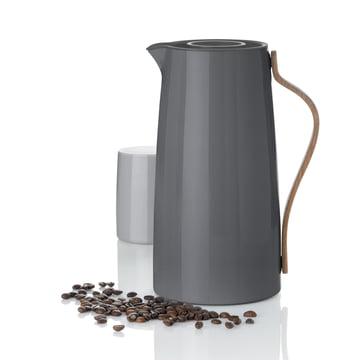 Stelton - Cafetière isotherme Emma gris, gobelet isotherme
