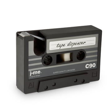 j-me - Dévidoir de ruban adhésif cassette tape, noir