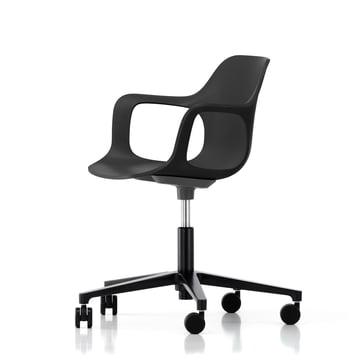 Chaise de bureau pivotante Hal Studio par Vitra en noir