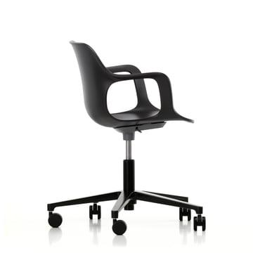 Chaise de bureau pivotante Hal Studio en noir