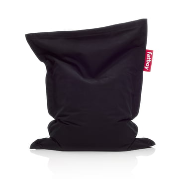 Fatboy - Pouf Junior Stonewashed, noir